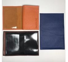 Автодокументы + паспорт из натуральной кожи с пластиковыми клапанами